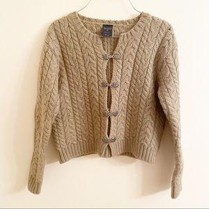 Paul James Olive Green Wool Sweater Cardigan Sz M